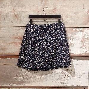 floral skater skirt // Hollister